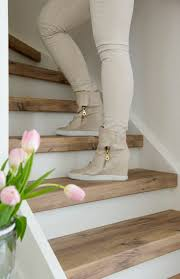 Hall And Stairs Paint Ideas by Get 20 Painted Wood Stairs Ideas On Pinterest Without Signing Up