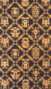 traditional wallpaper polyester damask hand printed