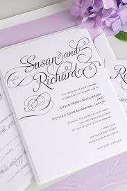 Purple Wedding Invitations Script Wedding Invitations In Purple U2013 Wedding Invitations