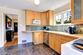 Black And White Ceramic Floor Tile Kitchen Floor Tile White Stainless Steel Barstool Maple Wood