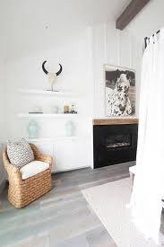 Floating White Shelves by Bedroom Fireplace With Floating Shelves Cottage Bedroom