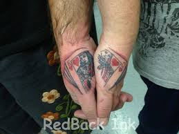 3d king u0026 queen of hearts tattoos on hand tattoos pinterest