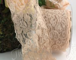 wide lace ribbon chagne lace trim etsy