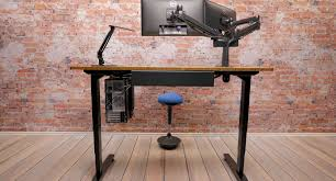 stand up l with shelves shop uplift space saver standing desks at human solution