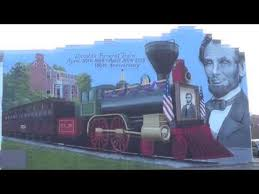 funeral plets finished lincoln s funeral mural in cambridge city indiana