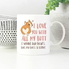 i love you with all my corgi cool mug dog funny coffee mugs