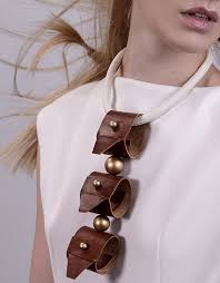 handmade fashion necklace images Taba triplet leather handmade fashion statement necklace trash4flash jpg