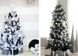 white tree with black ornaments enchantinglyemily