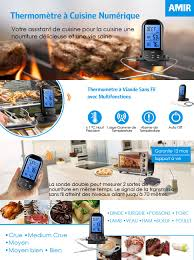 sonde de cuisine amir thermomètre sonde digital thermomètre de cuisson