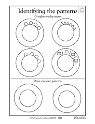 pattern math worksheets preschool free printable preschool math worksheets word lists and activities