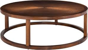 contemporary wood copper round coffee table safavieh