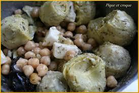 cuisiner coeur d artichaut salade de coeur d artichauts et de pois chiches pique et croque