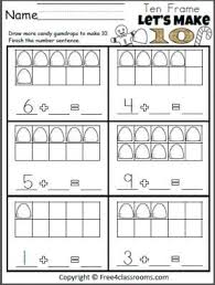 230 best ten frames images on pinterest ten frames kindergarten