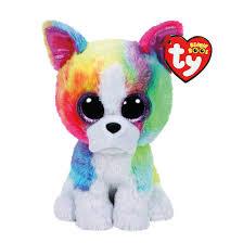 ty beanie boo small isla rainbow bulldog soft toy claire u0027s