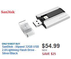 best buy black friday new deals sandisk ixpand 32gb usb 2 0 lightning flash drive silver black