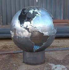 Fire Pit Globe by Craftsmen In Metal Uk Fire Sphere Sculptural Fire Pit Noveltystreet