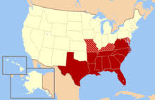 map us states during civil war southern united states