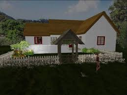 second life marketplace cottage garden white fence one of the
