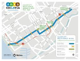 Metro Line Map by Getting To The Route And Parking Ciclavia