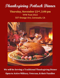 free dinner at vfw thanksgiving away from home coronado times