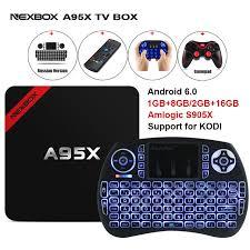 smart android max 2gb ram 16gb rom nexbox a95x smart android 6 0 tv box amlogic
