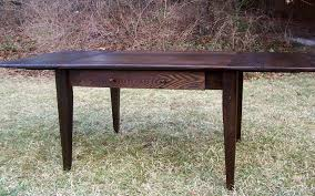 Shenandoah Farm Tables Buy A Hand Made Wormy Chestnut Farm Table With Extension Made To