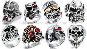 steel skull rings images Modern style skull rings for men with courts and hackett skull jpg