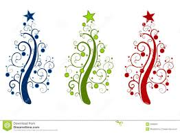 swirly christmas tree clipart clipartxtras