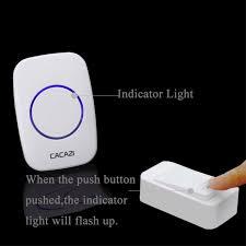 wireless doorbell system with light indicator cacazi new wireless doorbell no battery waterproof eu uk us plug