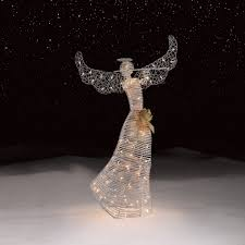 Lighted Outdoor Christmas Decorations by Roebuck U0026 Co Silver Angel Outdoor Christmas Decor