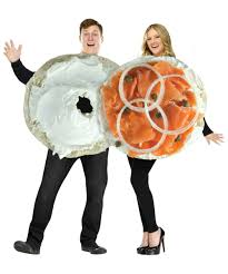 costumes for couples bagel and lox couples costume