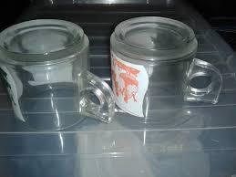 bicchieri della nutella coppia tazze bicchieri nutella vetro vintage a altre zone