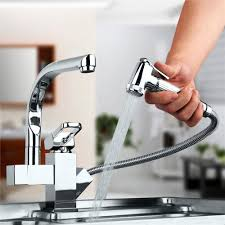 where to buy kitchen faucets centerset contemporary two spouts kitchen faucet deck mounted pull