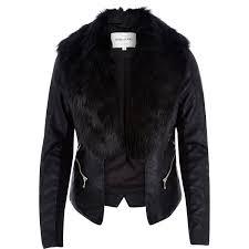 black fur and leather coat coat racks