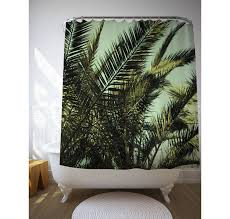 palm leaf shower curtain bath accessories tropical zoom