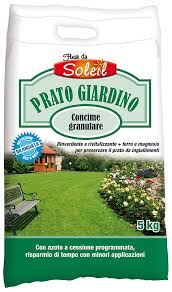 concimazione tappeto erboso fleur du soleil concime granulare prato giardino raggio di sole