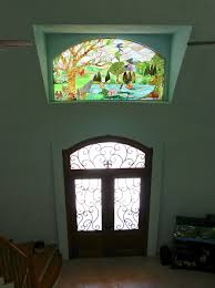 stained glass for front door image the stained glass window above the front door of the