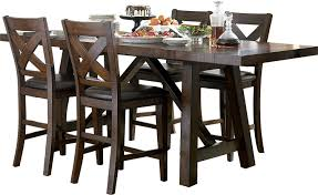 adara 5 piece counter height dining package u2013 rectangle table