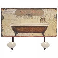 haken badezimmer bad garderobenhaken mit metall hakenleiste mit le bain motiv für s