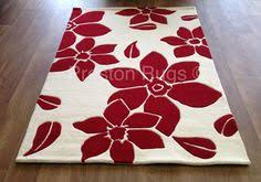 Modern Floral Rugs Rug Modern Floral Flower Beige 90x150cm Contemporary Piano