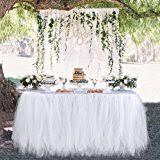 amazon com macting handmade tutu tulle table skirt cover improved