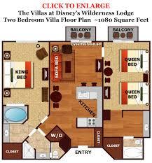 disney world floor plans the master bedroom and bath area of a boulder ridge villa at