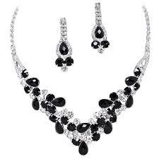 prom necklace black v shaped garland prom bridesmaid evening