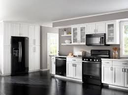 gray kitchen cabinets white appliances homeofficedecoration black kitchen cabinets with white
