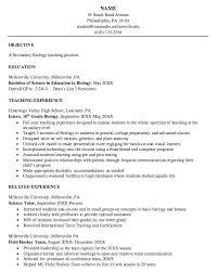 science resume template biology resume template venturecapitalupdate