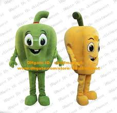 Pepper Halloween Costume Lively Yellow Green Bell Pepper Mascot Costume Mascotte Colored