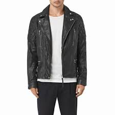 biker jacket sale allsaints yuku biker leather jacket black long sleeve biker