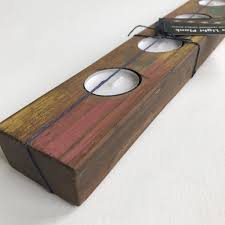 Reclaimed Wood Home Decor Reclaimed Wood Tea Light Candle Holder Candle Centerpiece