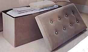 Suede Ottoman Grey Diamante Faux Suede Ottoman Storage Bedding Box Co Uk