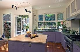 purple cabinets kitchen gorgeous purple cabinets and white wall paint color combination for